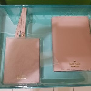 Kate Spade passport holder and luggage tag